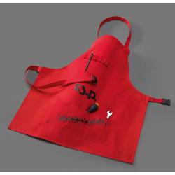Workshop apron red -...